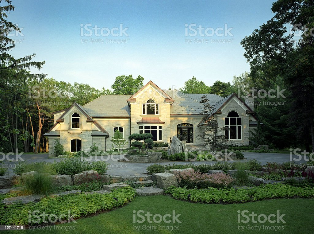 Mansion Exterior stock photo