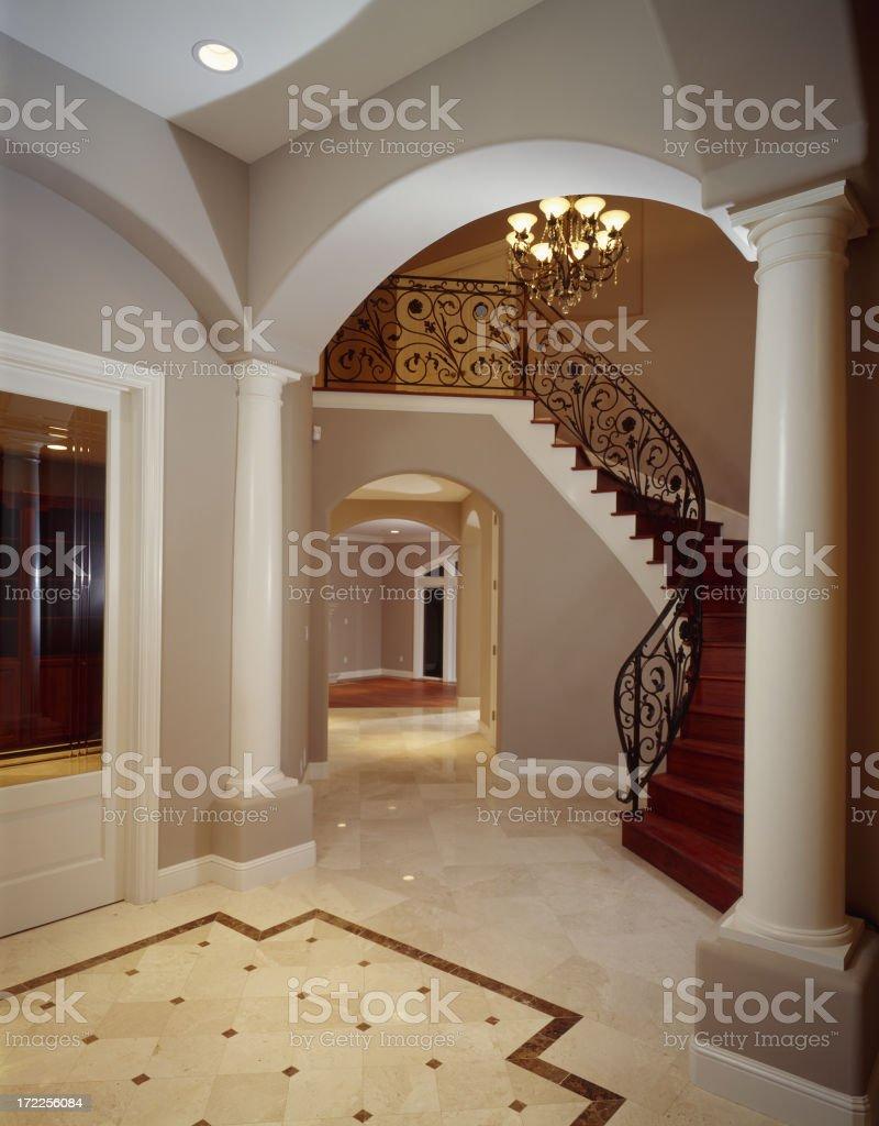 Mansion Foyer royalty-free stock photo