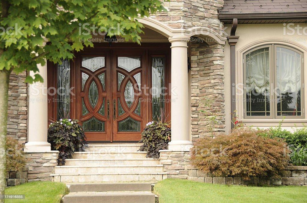 Mansion Front Door stock photo