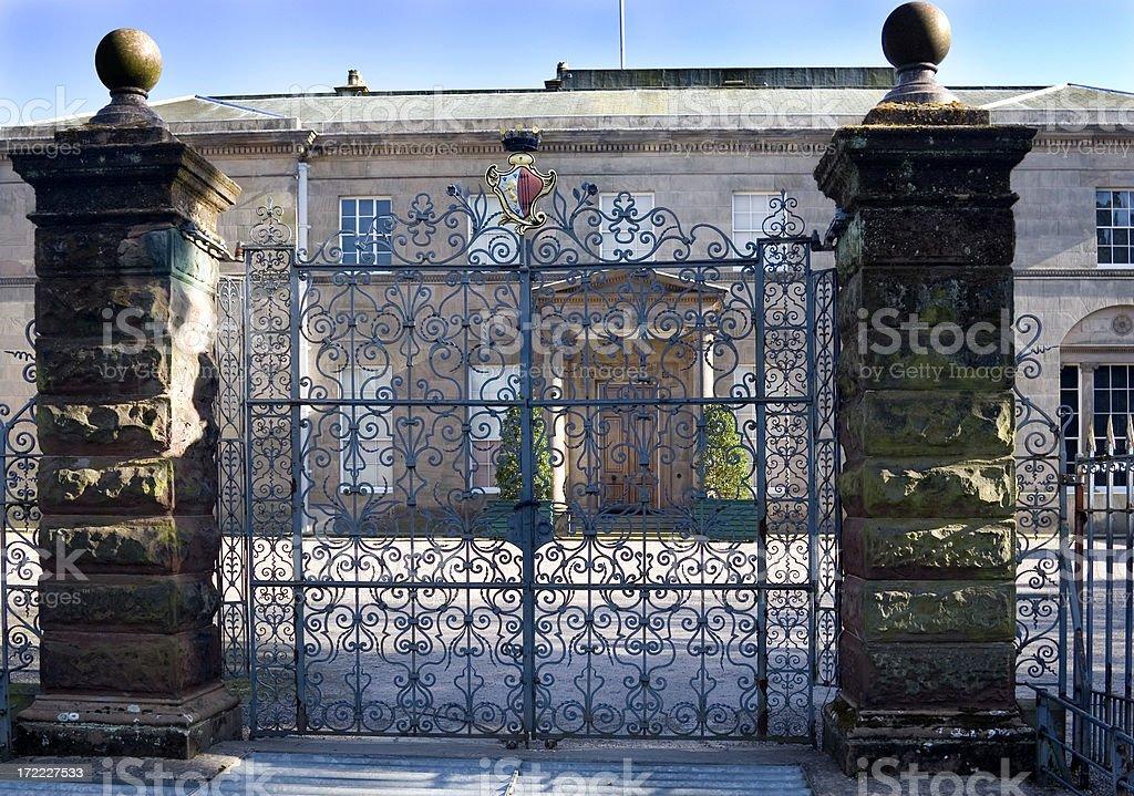 Mansion gates royalty-free stock photo