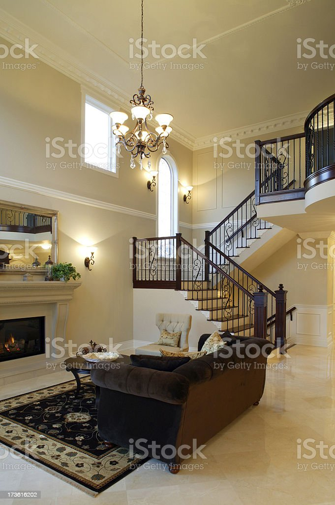 mansion house railing couch royalty-free stock photo