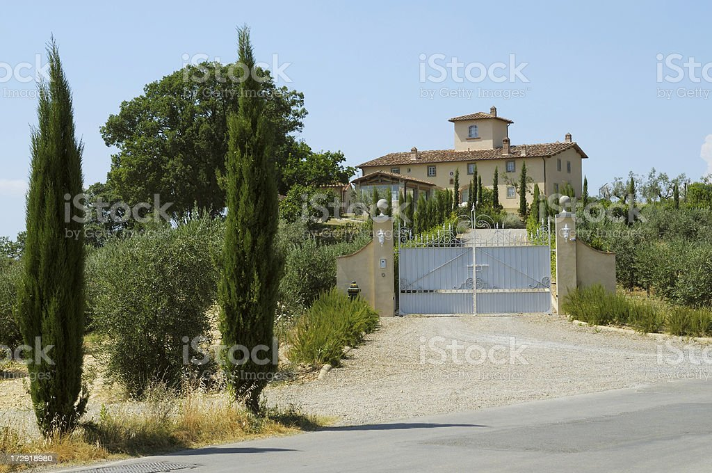 Mansion in the countryside royalty-free stock photo