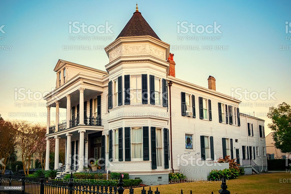 Mansion in the Garden District of New Orleans stock photo