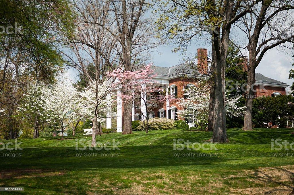 Mansion in Virginia stock photo