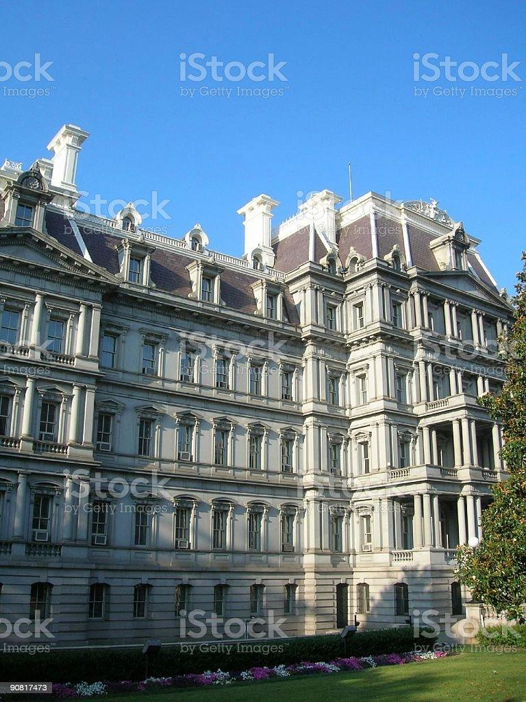 Mansion near White House stock photo