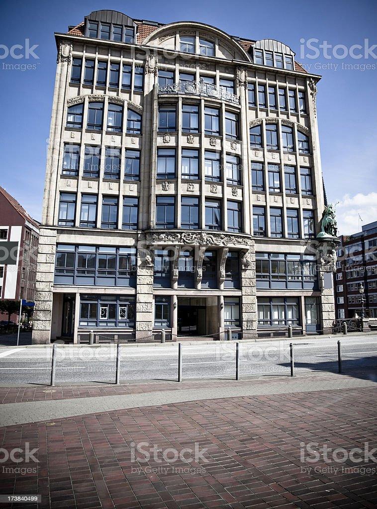 mansion office, architecture, hamburg, germany royalty-free stock photo