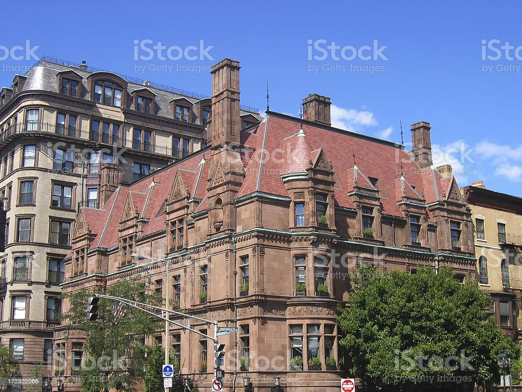 Mansion On Commonwealth Avenue royalty-free stock photo