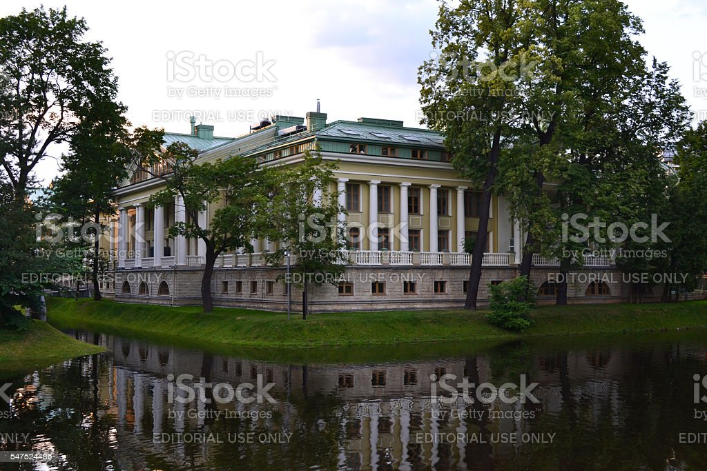 Mansion on Stone island in Saint-Petersburg, Russia stock photo