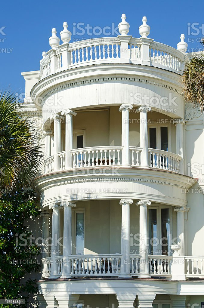 Mansion on the Battery in Charleston, South Carolina stock photo
