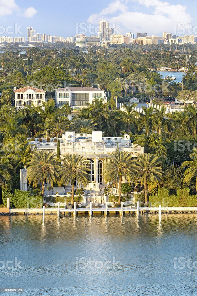 Mansion on the water royalty-free stock photo