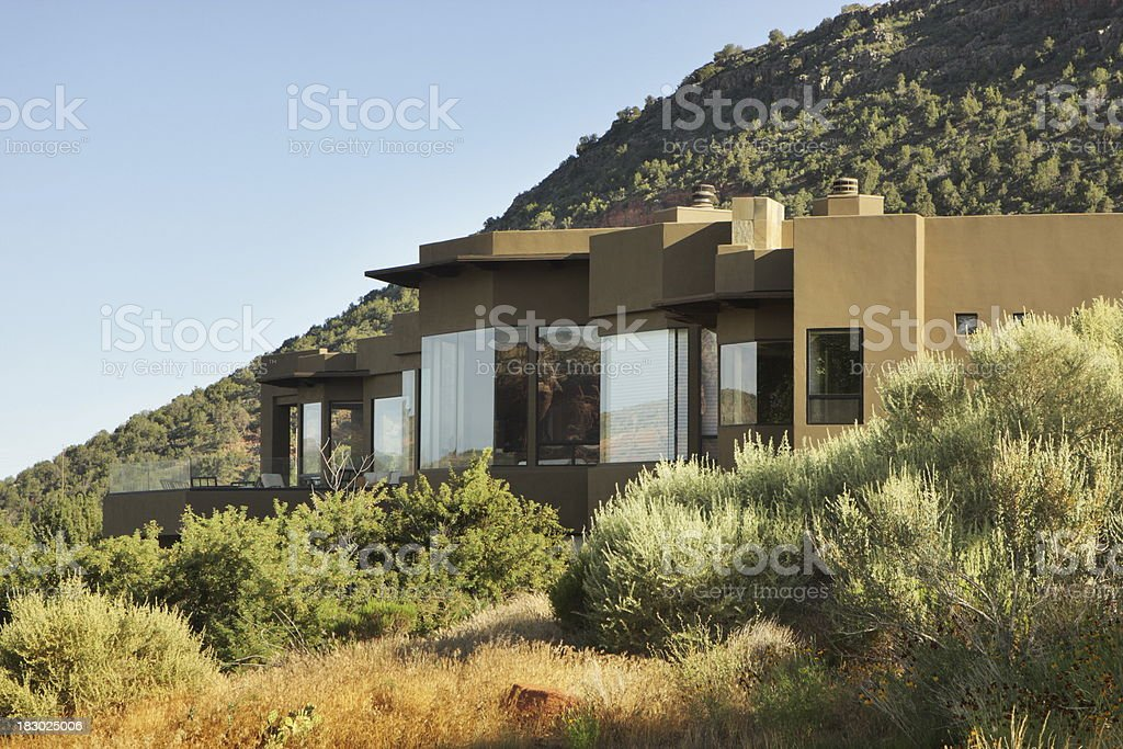 Mansion Villa Home Luxury Architecture Mountain stock photo