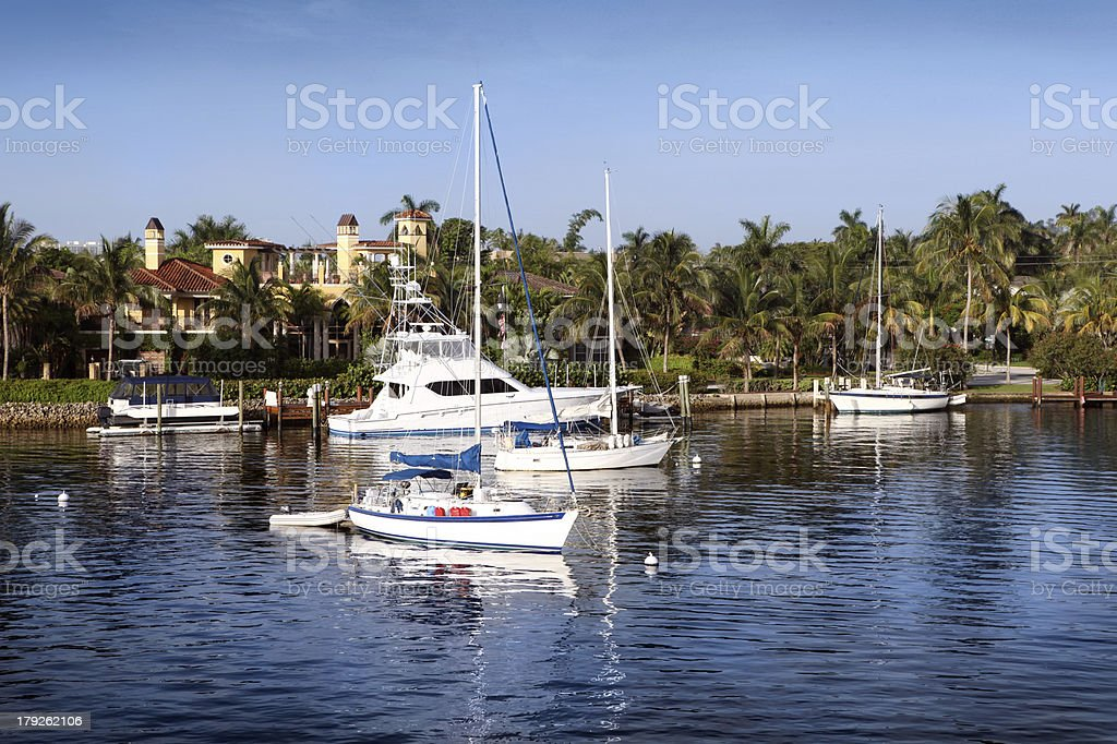 Mansions and Yachts royalty-free stock photo