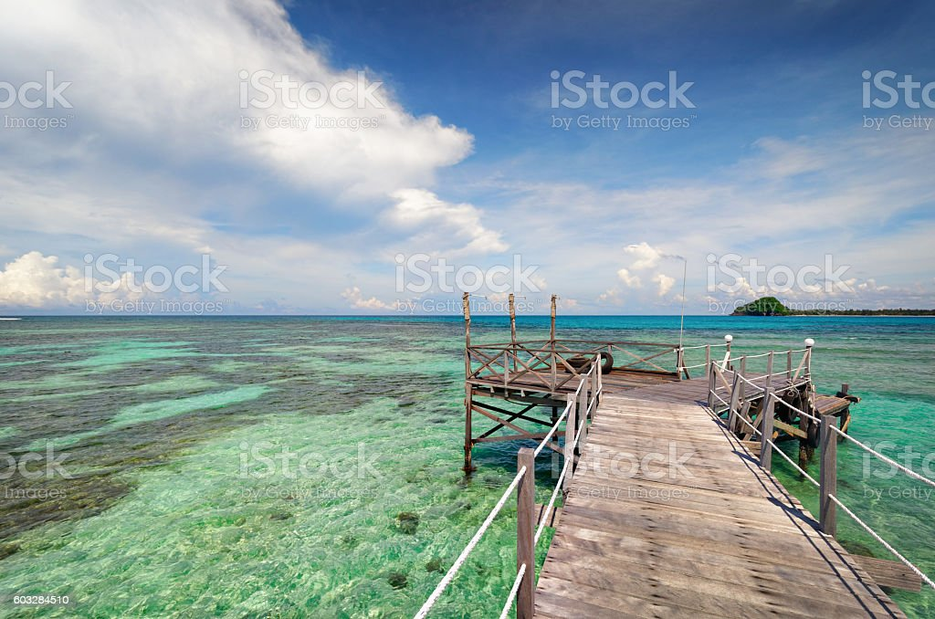 Mantanani Island Borneo stock photo