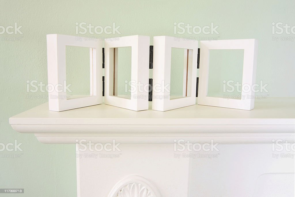 mantel with em stock photo
