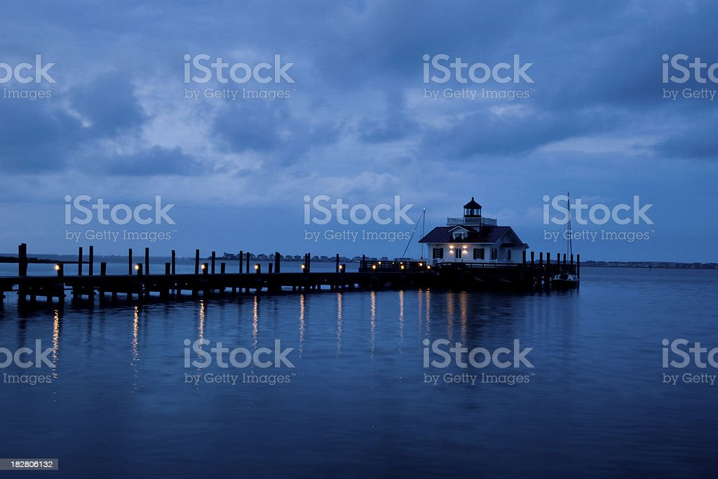 Manteo Lighthouse On A Cloudy Morning stock photo