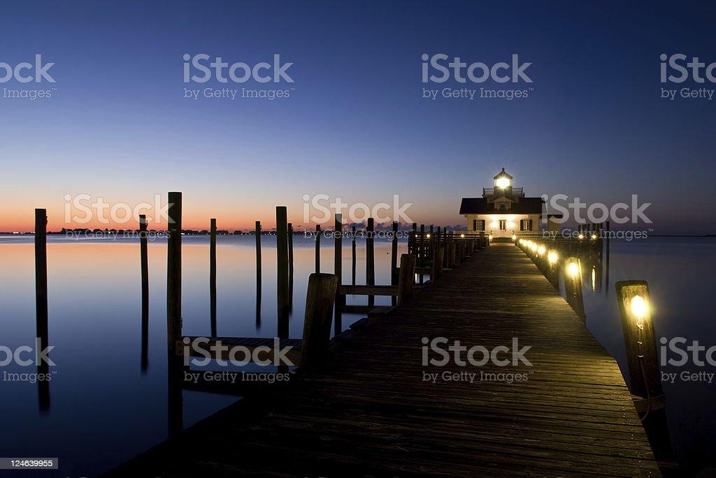 Manteo Lighthouse Sunrise stock photo