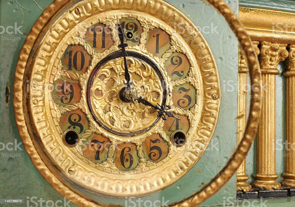 Manto relógio oblíquo foto royalty-free
