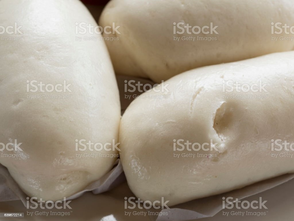 Mantou Chinese steamed buns stock photo