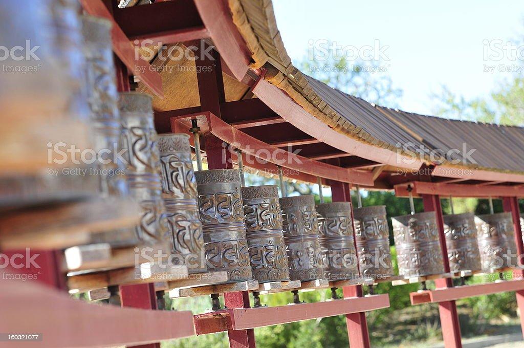 Mantras Buddhist temple in Barcelona. stock photo