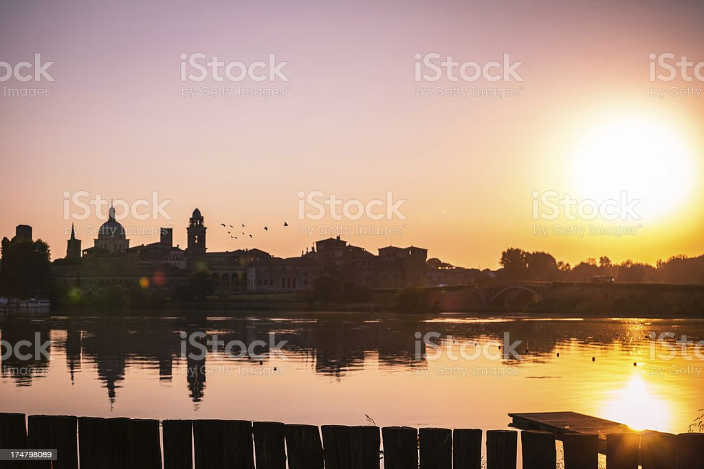 Mantua Sunset royalty-free stock photo