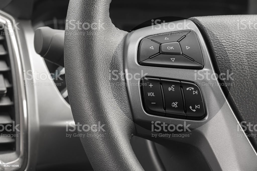 Manual 6 Speed Gearstick in a car stock photo
