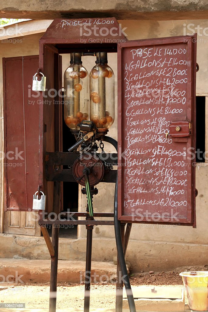 Manual fuel pump in Africa royalty-free stock photo