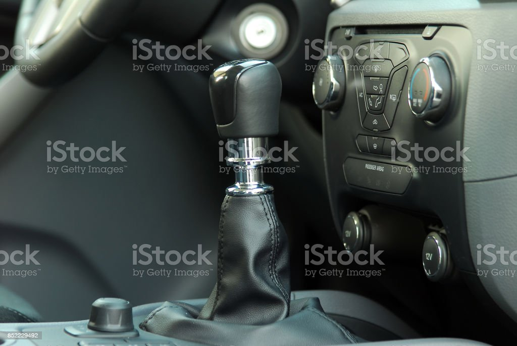 manual gear shift stock photo
