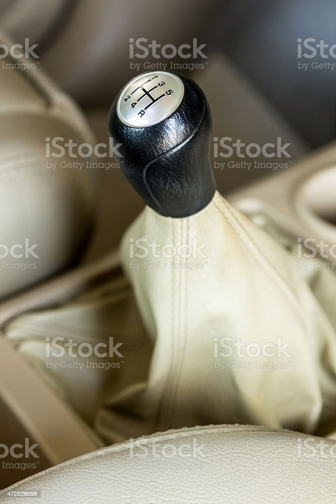 Manual gear stick stock photo