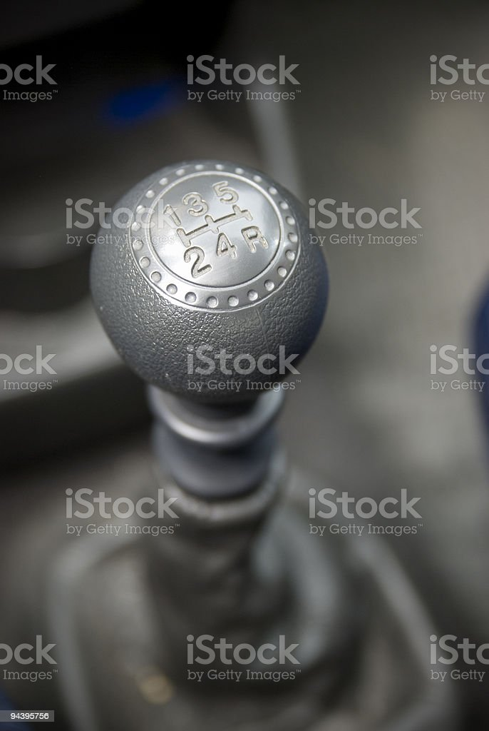 Manual gear  transmission car royalty-free stock photo