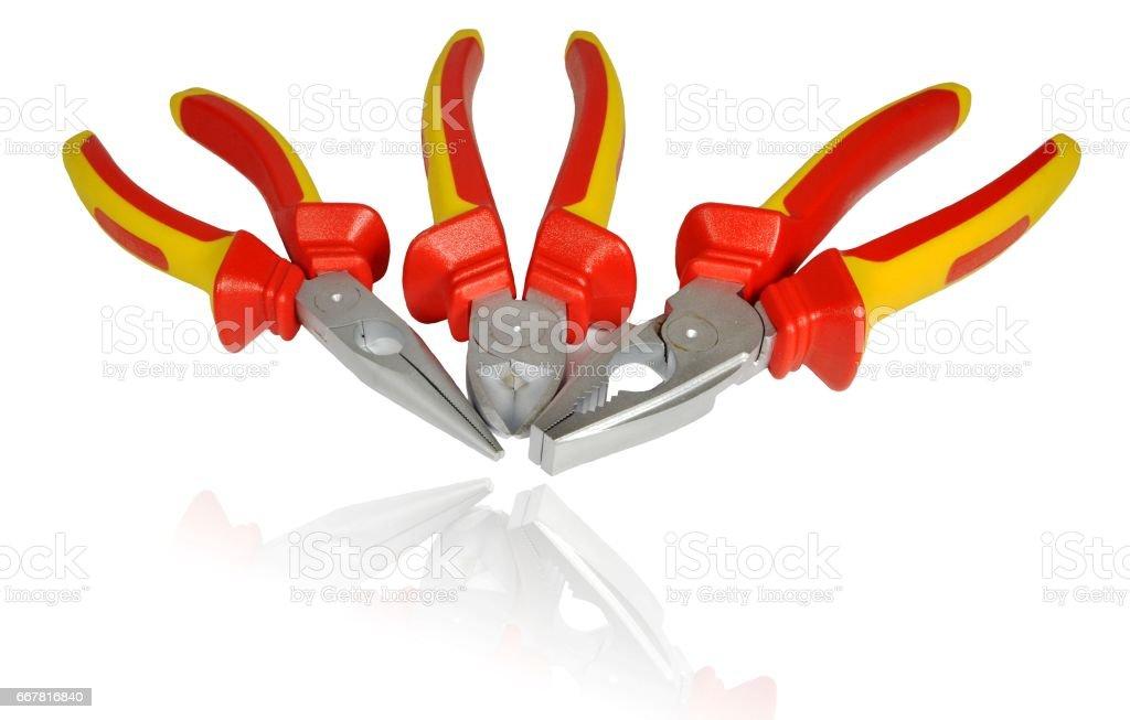 Manual metalwork tools stock photo