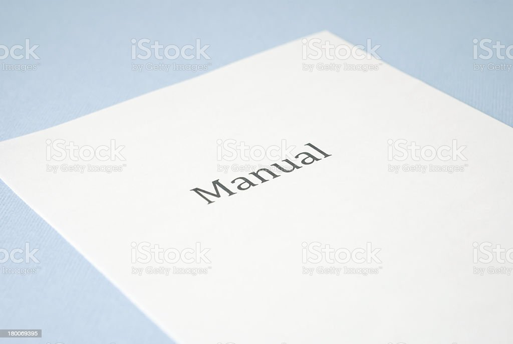 manual royalty-free stock photo