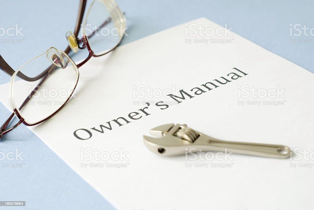 manual royalty-free stock photo
