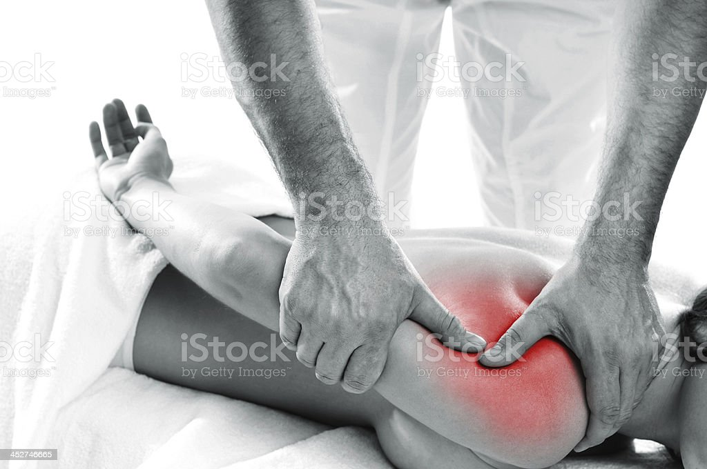 manual therapy stock photo