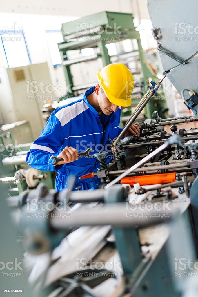 Manual tools for automated production machines stock photo