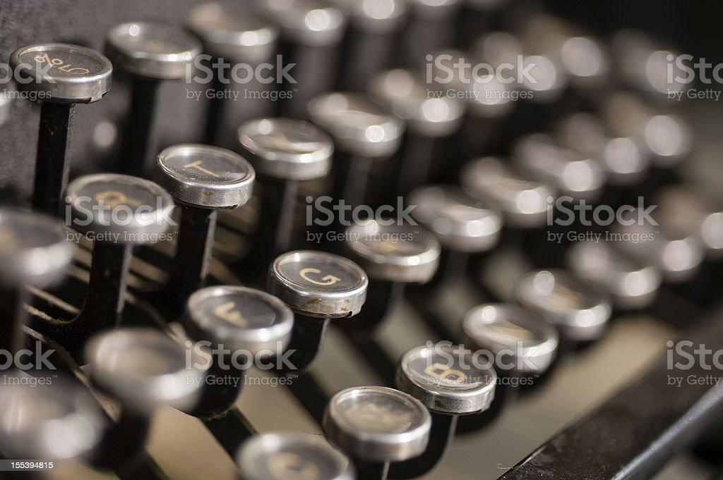 Manual Typewriter Keys royalty-free stock photo