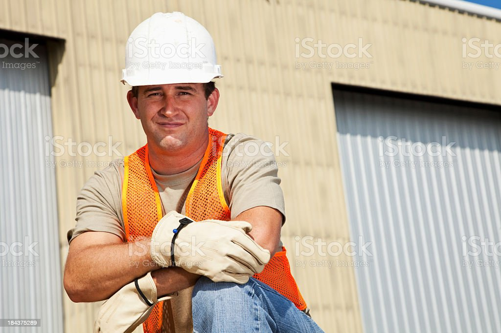 Manual worker at job site stock photo