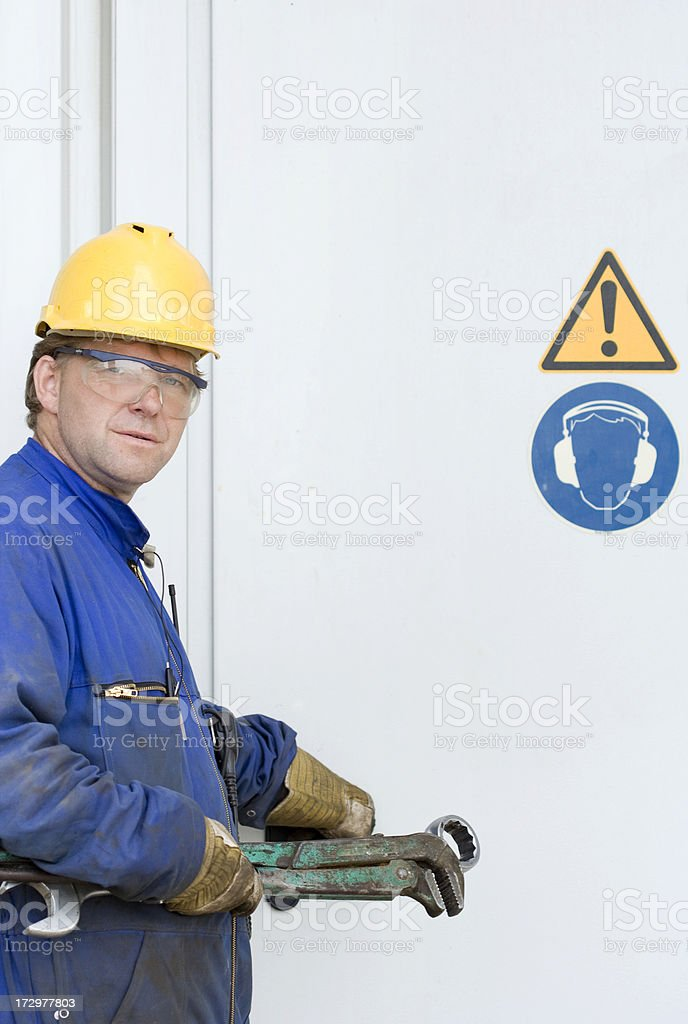 Manual worker at work. royalty-free stock photo