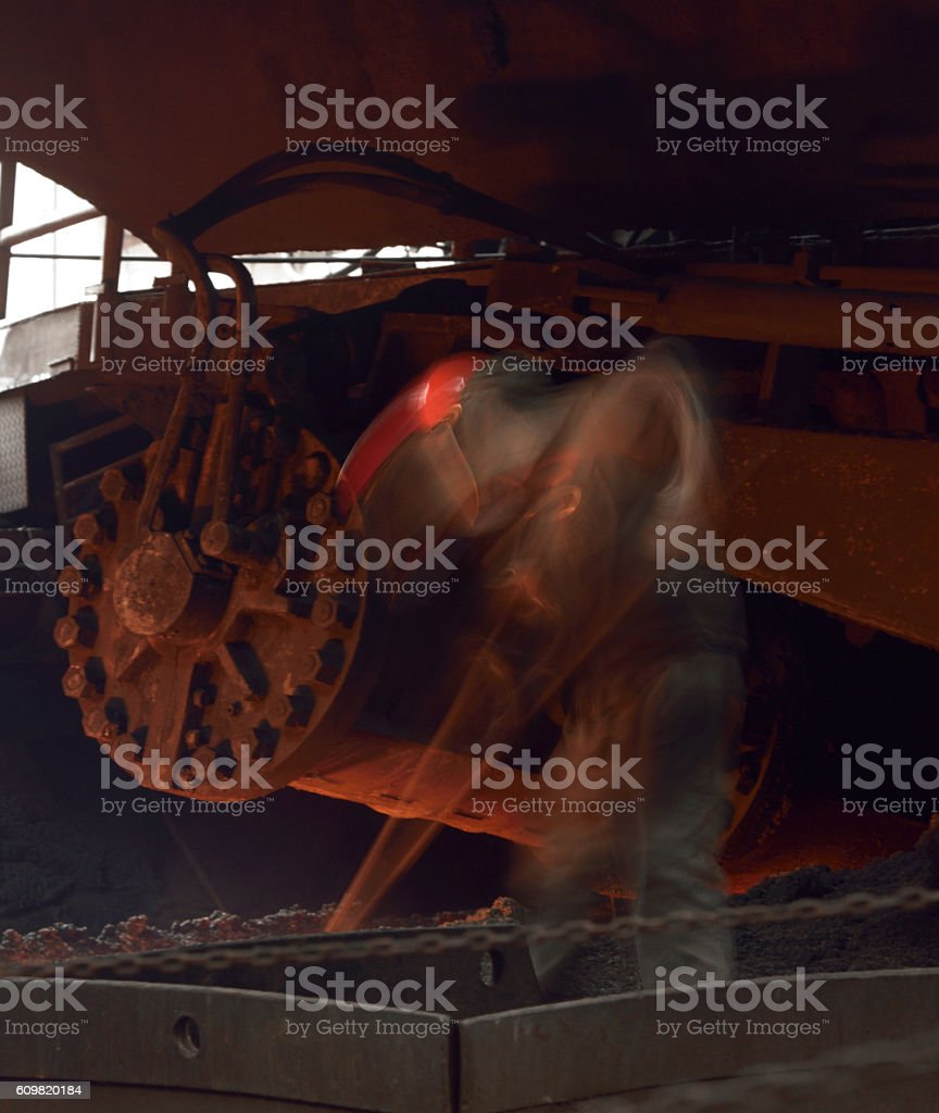 Manual worker of steel and iron Industry stock photo