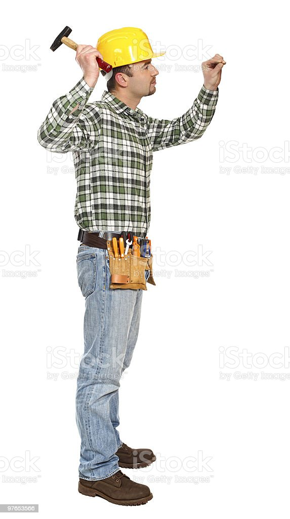 manual worker on duty royalty-free stock photo