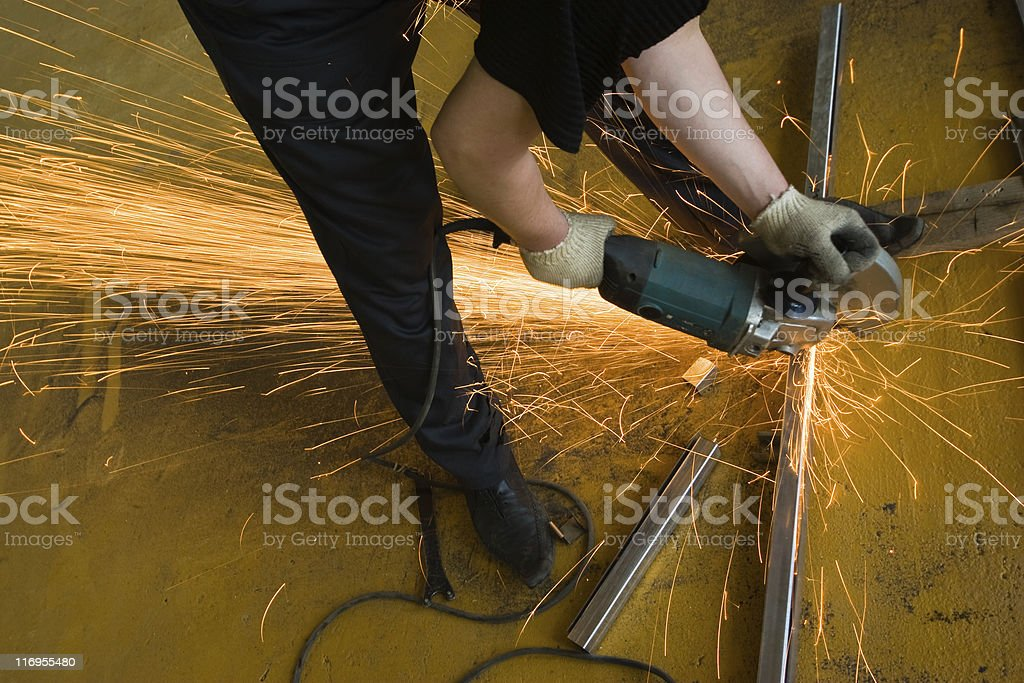 manual worker on plant royalty-free stock photo