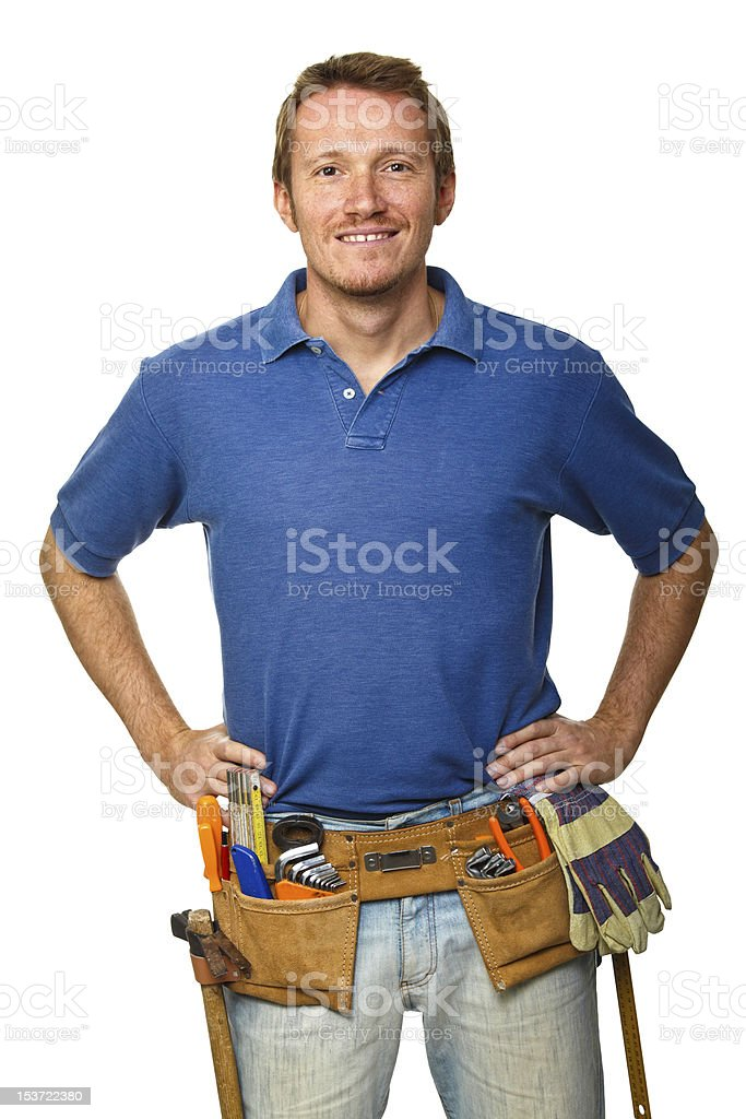 manual worker on white royalty-free stock photo