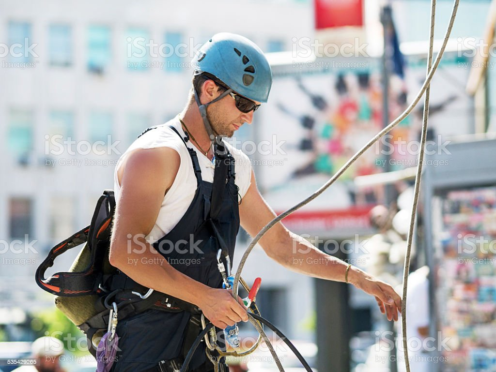 Manual worker. stock photo