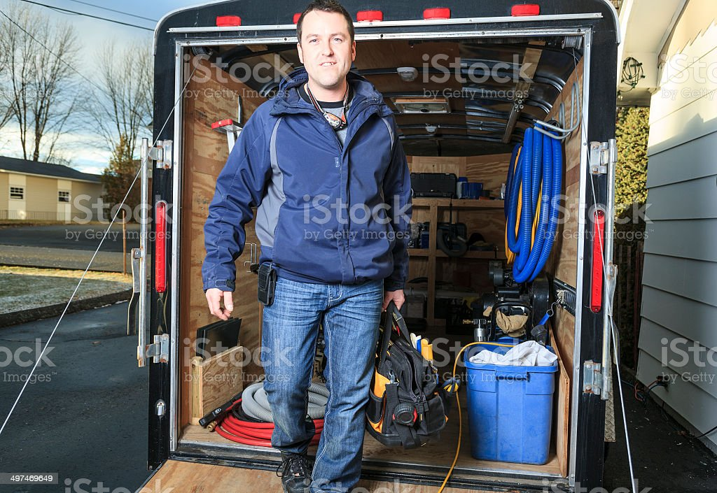 Manual Worker - Trailer stock photo