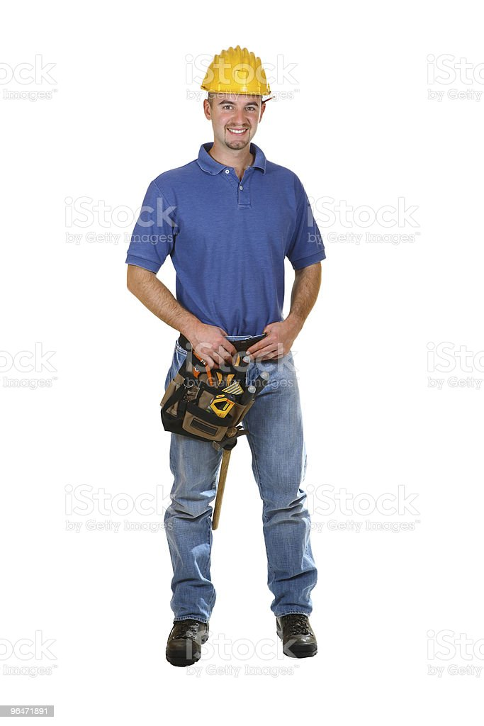 manual worker with helmet royalty-free stock photo