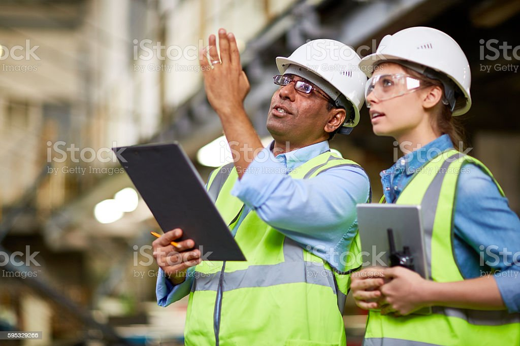 Manual workers working stock photo