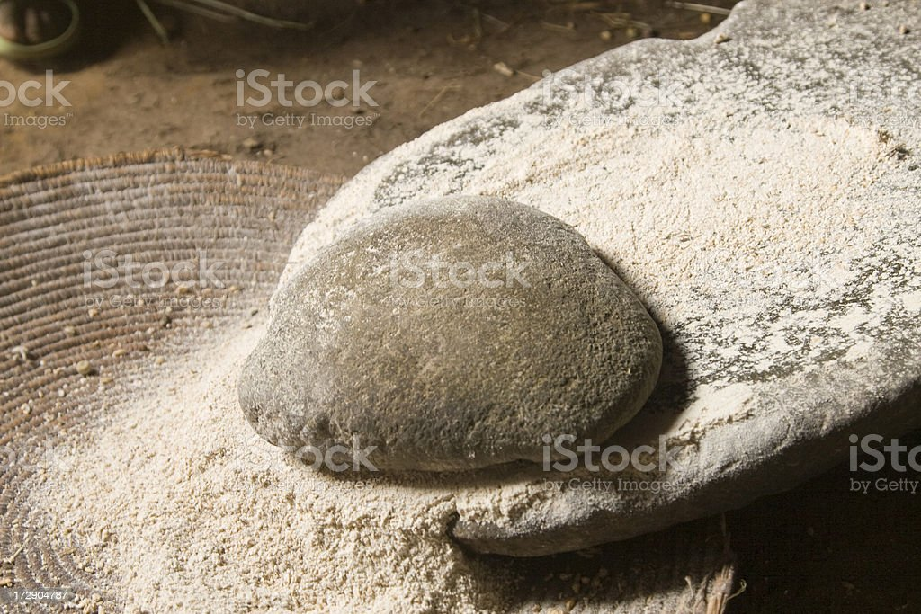 Manually Grounded Flour royalty-free stock photo
