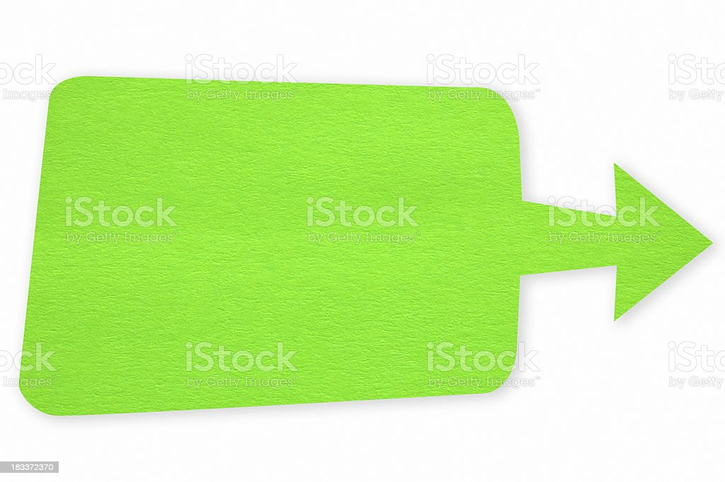 Manualy paper cutting dialog box(clipping path) royalty-free stock photo