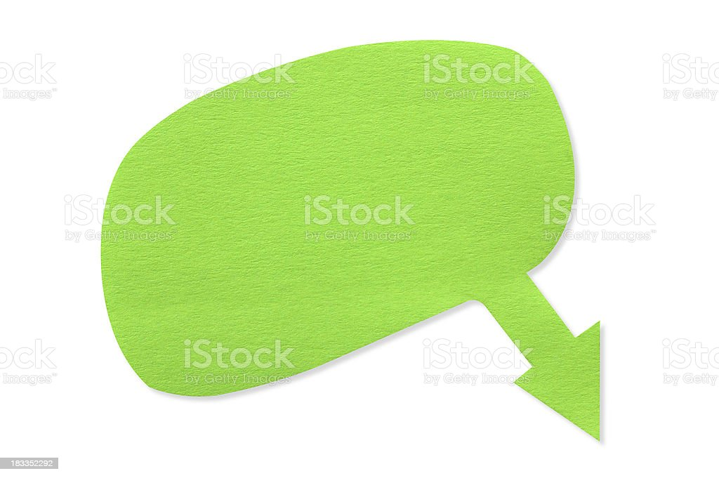 Manualy paper cutting dialog Speech Bubble box(clipping path) royalty-free stock photo
