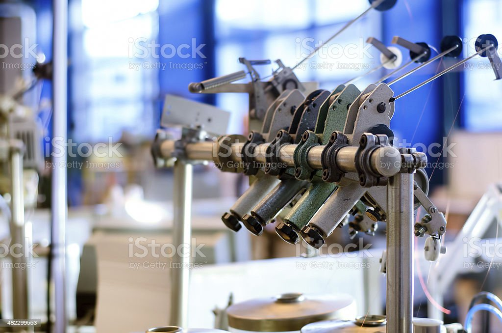 manufacture of electronic components, copper being used stock photo
