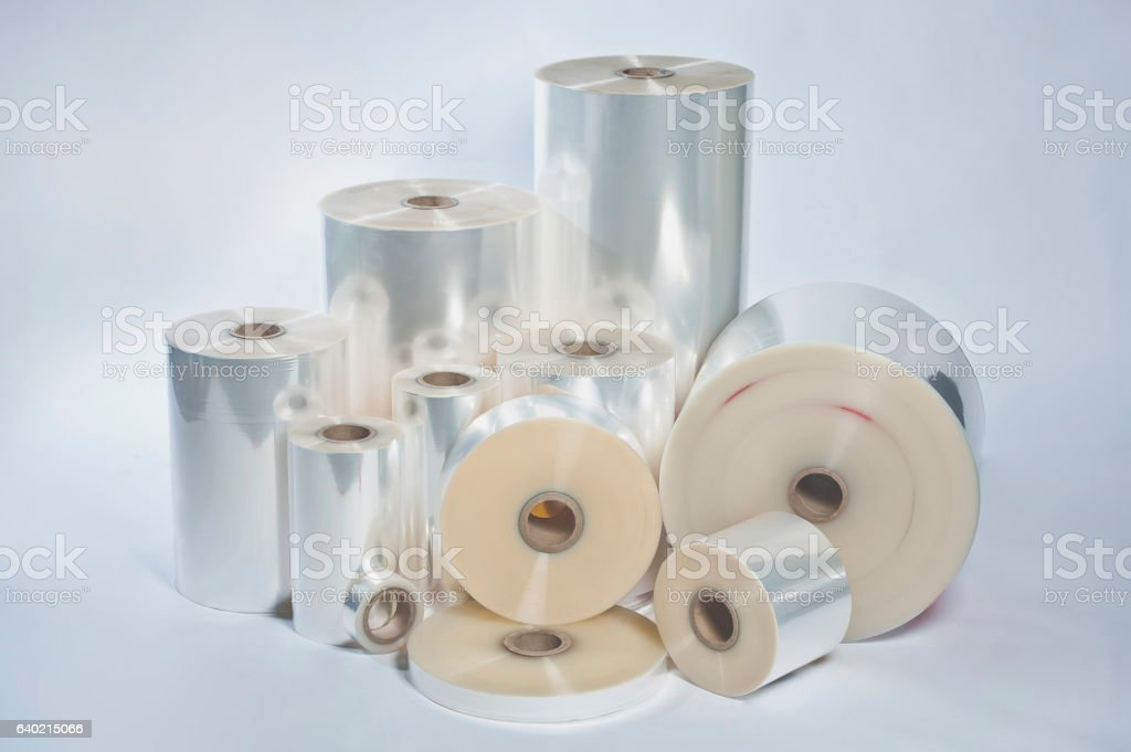 manufacture of food films stock photo